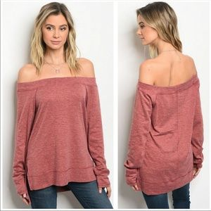 NEW! OFF THE SHOULDER TOP IN SIZE SMALL